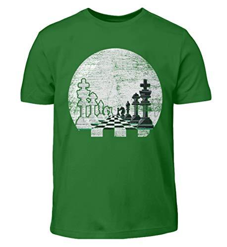 Vollmond-kinder T-shirt (Schachfiguren im Mondschein - Geschenk für Schachspieler - Schach Schachfigur Vollmond - Kinder T-Shirt)