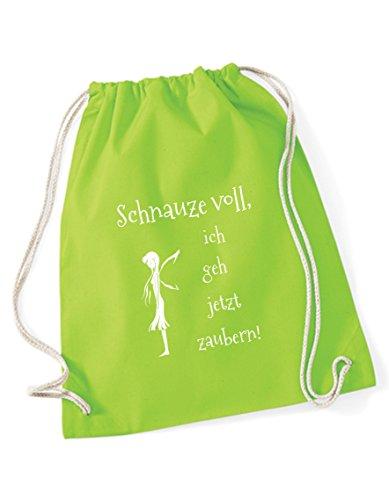 Turnbeutel Schnauze voll ich geh jetzt zaubern bedruckt / Rucksack / Sportbeutel / Gymsack / Gymbag...