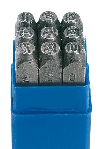 Draper 37337 3/16-inch 0-9 Number Stamp