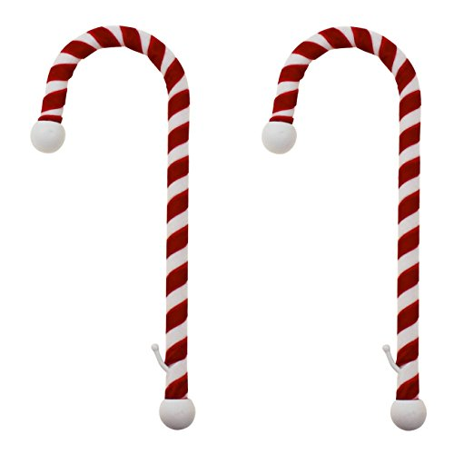 Haute Decor Candy Cane Weihnachtsstrumpf Halter: 2Pack: Samt-Finish