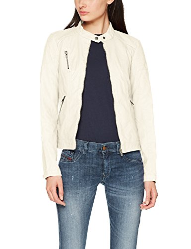 Only Onlsteady Faux Leather Jacket Cc Otw, Chaqueta para Mujer, Gris (