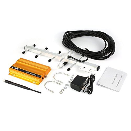 GSM 900mHz Handy Signal Booster Repeater Verstärker + Yagi Antenne Full-Duplex Single-Port-Design AT-980