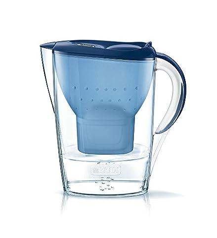 Brita Wasserfilter Starterpaket Marella, inkl. 3 Maxtra+ Filterkartuschen blau