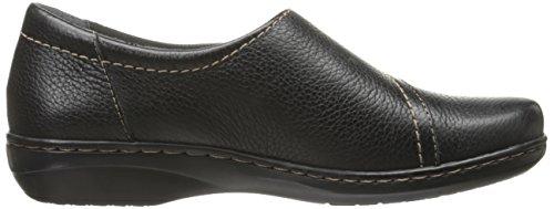 Clarks Evianna piatta e solida Black Leather