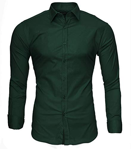 Dunkle Armee Grünen T-shirt (Kayhan Langarmhemd A.L.T Dunkelgrün M)