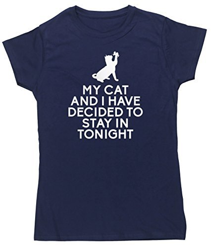 HippoWarehouse Damen T-Shirt Blau - Marineblau