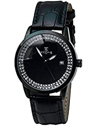 Skone 9241-1 Analog Black Dial Leather Strap Wrist Watch / Casual Watch - For Women