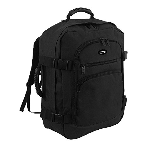 FlyGear Backpack Cabin Approved Carry On Flight Hand Luggage Rucksack Travel Holdall 45 Litres Bag - FITS 50cm x 40cm x 20cm