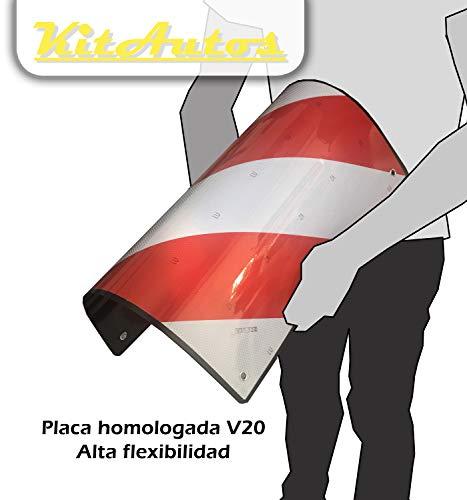 KITAUTOS. KIIIV20. Placa V20 Homologada. ABS Plástico.