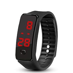 Kreative LED-Silikon-Armband Armband Leichte weiche Mode Fitness Sports Band-Uhr für Männer Frauen