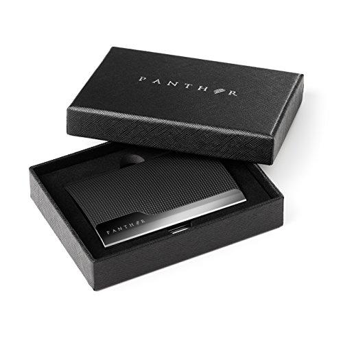 Panther Visitenkartenetui Visitenkartenhalter Business Card Case Schwarz Qualitativ Hochwertiges Kartenetui Für Ihre Visitenkarten Und Als Geschenk