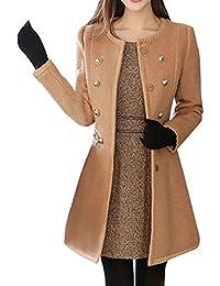 b54437952fc0a Women Coat TUDUZ Ladies Winter Warm Artificial Wool Lapel Trench Coat Slim Faux  Fur Collar Parka