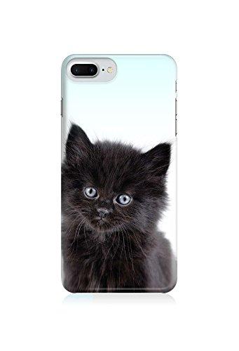 COVER Katze cat Tier Kitten Kätzchen schwarz Design Handy Hülle Case 3D-Druck Top-Qualität kratzfest Apple iPhone 8 Plus