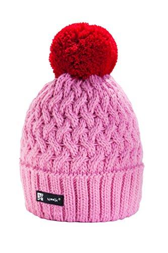 Wintermütze Mädchen Mütze Kinder Jungen Jugendliche Wurm Cookies HAT SKI Hut mit Fleece gefüttert (Pink) MFAZ Morefaz Ltd