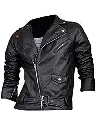 Jeansian Top De Cuero De Abrigos De Moda Para Hombre Chaqueta Mens Fashion Jacket Outerwear Leather Top 8927