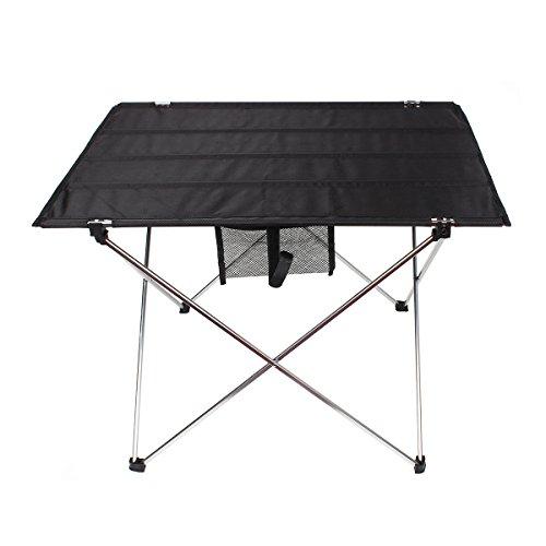 Klapptisch von Outry, faltbarer Camping-Tisch ultraleicht und einfach tragbar, Falttisch (74*54*53CM 0,845KG ) mit Aufbewahrungstasche Ideal für Camping,Picknick, Ausflug, Angeln und BBQ (schwarz, 74*54*53CM)