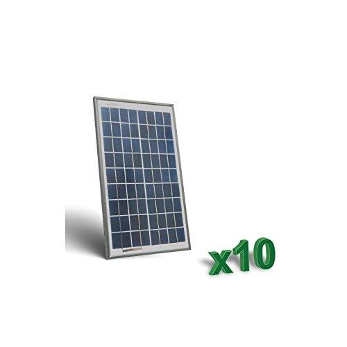 Foto de Peimar - Conjunto de 10 x 10W 12V Placa Solar Panel Fotovoltaico tot. 100W Camper - SET10-10