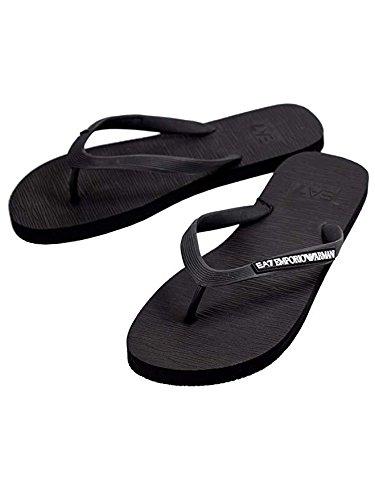Ea infradito ea7 emporio armani 7 unisex 905016 sandali ciabatte uomo donna - colore nero - taglia it 45 - us 11
