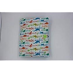 pochette couches et lingettes/pochette à langer nomade/pochette à couches et lingettes/cadeau naissance bébé/dinosaures/unique fait main/coton