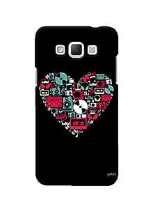 Gobzu Printed Hard Case Back Cover for Samsung Galaxy Grand Max - Musical Heart