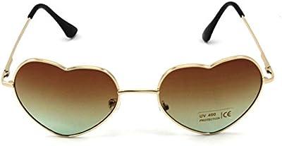 VANKER 1X de gran tamaño grande para mujer de las gafas de sol en forma de corazón lindo manera Gafas Gafas (color marrón oscuro)