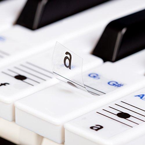 durchsichtige, ablösbare Keysies-Aufkleber für die Klavier- und Keyboardtastatur – mit praktischer Anleitung. - 2