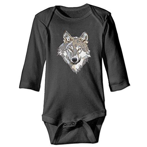 Wolf Gray Kostüm - WBinHua T-Shirts für Baby-Jungen,Bertha Gray Wolf Design Baby Newborn Long Sleeve Onesies Bodysuits