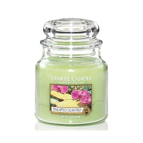Yankee candle 1174262E Pineapple Cilantro Candele in giara media, Vetro,