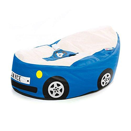 rucomfy Sitzsack Luxury Cuddle Soft Racing Auto Gaga Baby Sitzsack (Royal Blau)
