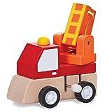 trendaffe Drehleiter Baustellenfahrzeug Aufziehfigur - Drehleiter Baumaschine Aufzieh Figur Wind Up Figur
