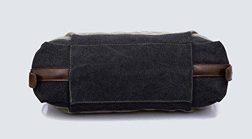 Bdawin Damen Vintage Multi-Color-Striped Canvas Schultertasche Handtasche Mehrfarbig-A