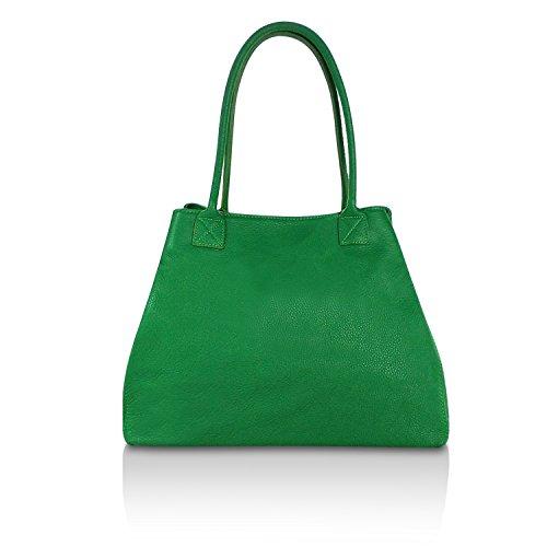 Borse A Tracolla Da Donna In Vera Pelle Nere Classiche Borsette Made In Italy 1.005.7 Verde