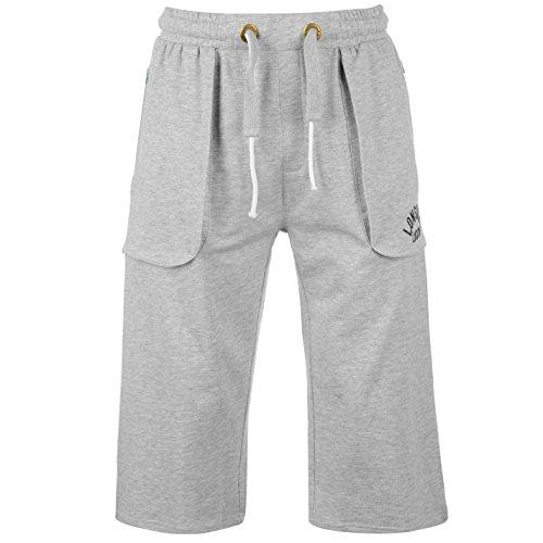 Lonsdale Herren Boxing Jogginghose Sweatpants Fitness Trainingshose Sporthose Grau Extra Lge
