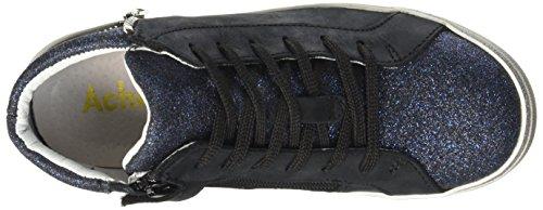 Achile Mädchen Carla Sneaker Bleu (12 Vts Noir/Marine Dpf/Clock)