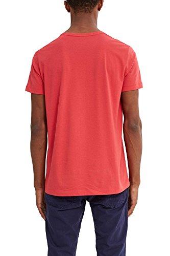 ESPRIT Herren T-Shirt 037ee2k025 Rot (Berry Red 625)