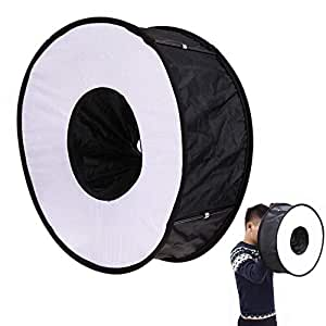 ZYJFP 45cm circolare pieghevole Softbox per fotografia macro e ritratto