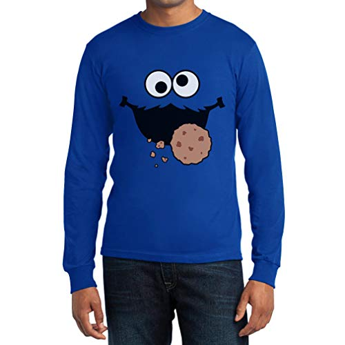 Karneval & Fasching Männer Keks-Monster Krümel Kostüm Langarm T-Shirt X-Large - Ernie Kostüm Shirt