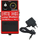 BOSS RC-1 Looper + bloc d'alimentation 9 V