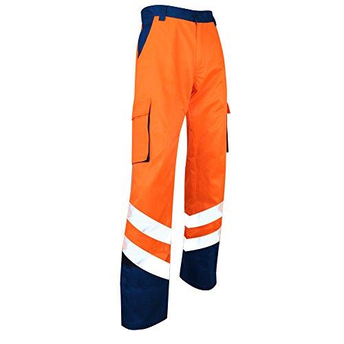 LMA 1408 BALISE Pantalon haute visibilité, Bleu/orange Fluo, Taille 50