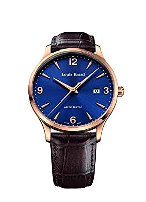 Louis Erard Men's 1931 40mm Brown Leather Band Rose Gold Plated Case Automatic Watch 69219PR15.BRC80