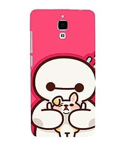 EPICCASE Cute Teddy cover Mobile Back Case Cover For Xiaomi Mi4 (Designer Case)