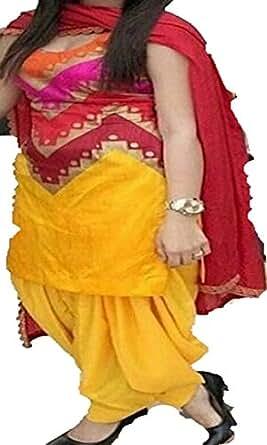 Sai creation silk Embroidered Unstitched Salwar Suit Dress material(yellow_BX-163_rakshabandhan_sale)