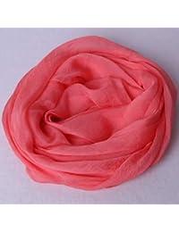 Foulards Wraps Foulard en Soie de Couleur Unie Longue Section Grande  écharpe Printemps et été châle 3f0f2c7dcb3