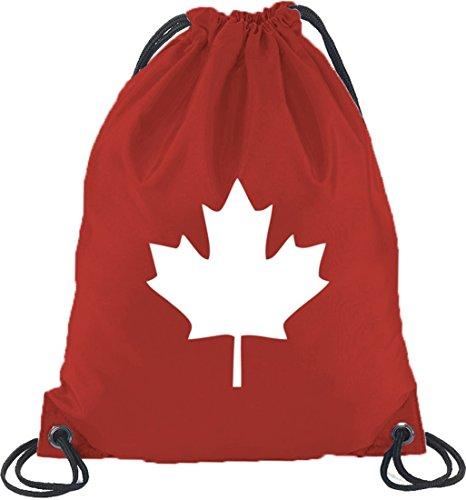 Shirtstreet24, CANADA/KANADA, Länder Turnbeutel Rucksack Sport Beutel, Größe: onesize,Rot