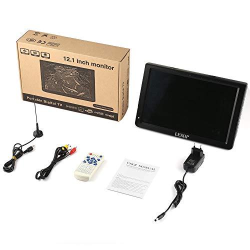 Sen-Sen LESHP D12-DVBT-2 LCD-Player mit digitalem TV-Tuner 12,1 Zoll Monitor Schwarz EU-Stecker EU-Stecker Schwarz Digital Lcd Tv