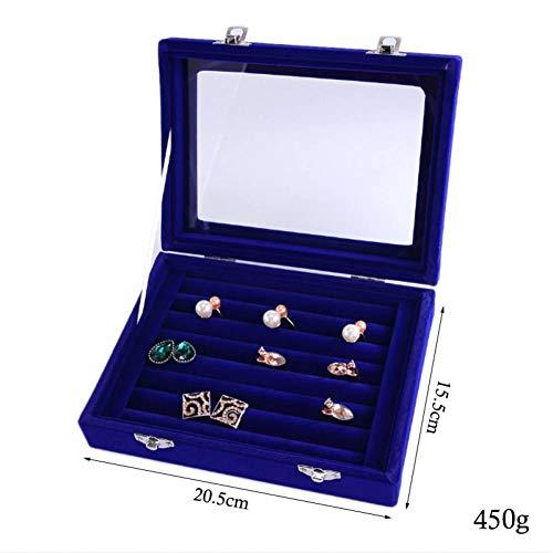 LLZSSH Samt Größe Ring Schmuckschatulle Brille Mit Deckel Ring Aufbewahrungsbox Stehen Ohrring Box Ohrring Schmuck Zubehör Display Rack - 525 Brillen