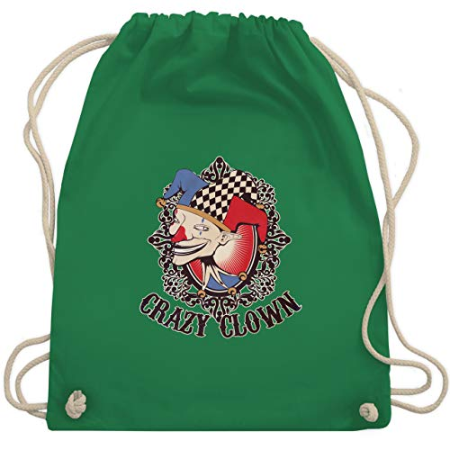 Karneval & Fasching - Crazy clown - Unisize - Grün - WM110 - Turnbeutel & Gym Bag