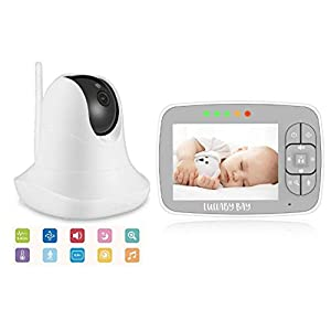 **New Model** Lullaby Bay Wireless Video Baby Monitor & Camera with Pan, Tilt, 2X Digital Zoom. 3.5 inch Colour LCD Screen. Supports up to 4 Cameras.   12