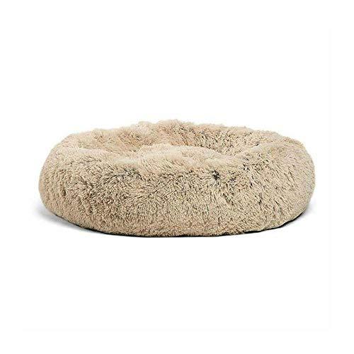 Zwinger Katzenstreu, Rund Langes Haar Tiefschlaf Herbst Und Winter Nest Matratze Katzenmatratze Pet Nest Groß Und Mittelgroß (Color : Beige, Size : S:D50X26CM) - Groß Pet-kiste-tisch