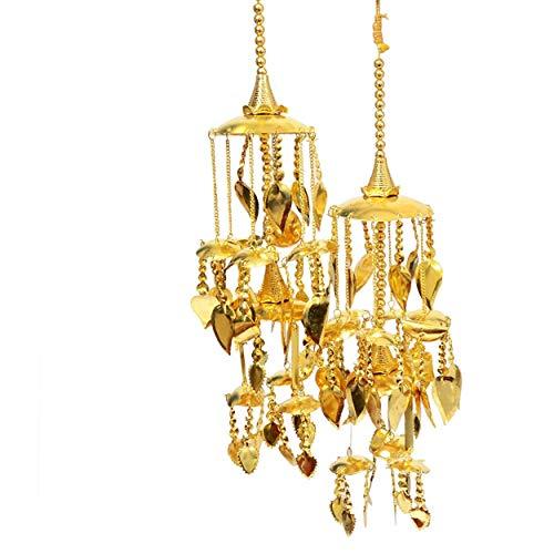Mansiyaorange Traditional Wedding Wear Punabi Kalire/kalere/Kaleera/Kalera/Bridal Hand Hanging/kaleera for Brides/Girls/Women(Gold Patra Work Premium Range)